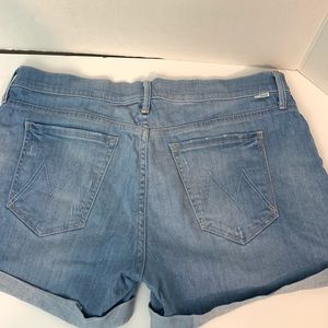 Mother Jean shorts light wash high rise sz 31